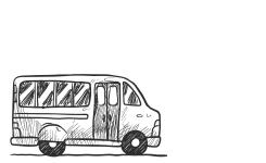 illustratie van een bus